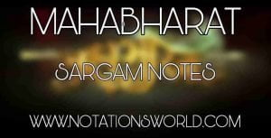 Mahabharat Title Song Flute Notes