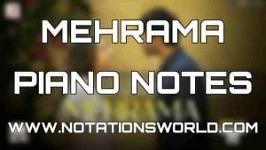 Mehrama Piano Notes