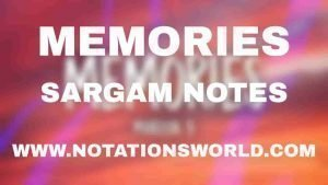 Memories (Maroon 5) - Sargam And Flute Notes
