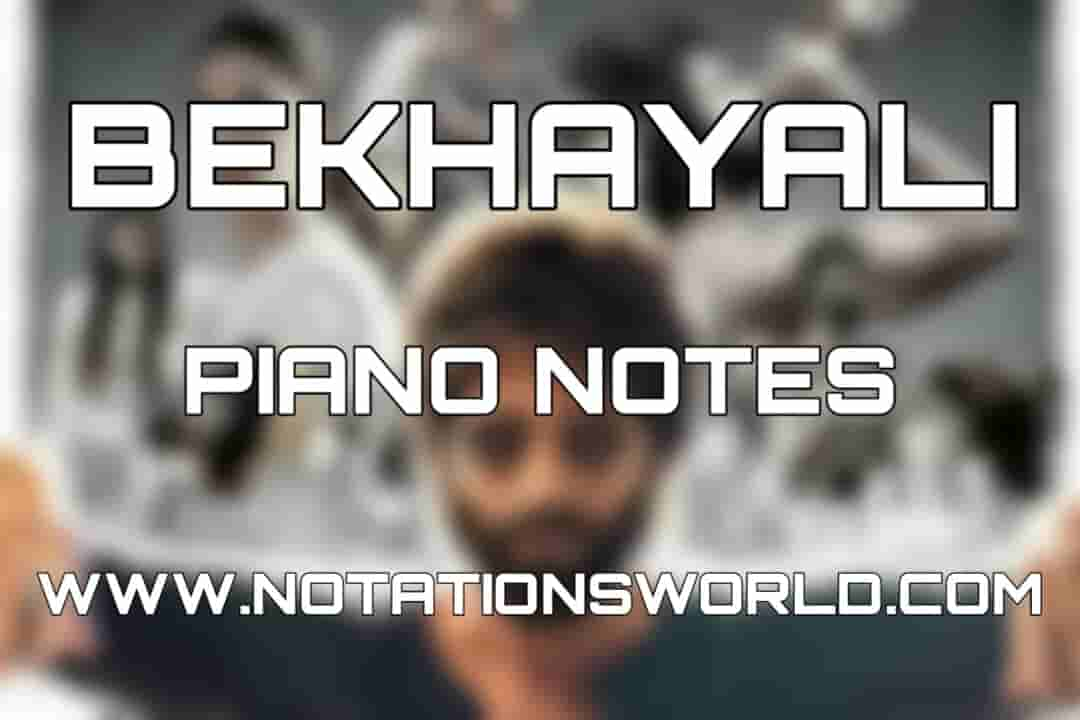 Bekhayali Piano Notes