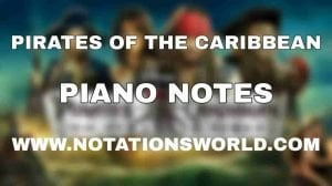 Pirates Of The Caribbean Piano Notes