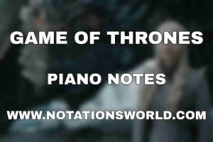 Game Of Thrones Theme Piano Notes