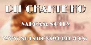 Dil Chahte Ho Sargam And Flute Notes