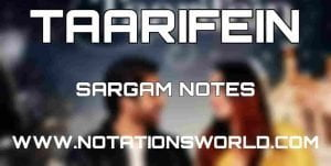Taarifein Sargam Notes
