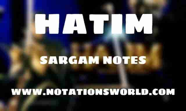 Hatim Theme Tune - Sargam And Flute Notes