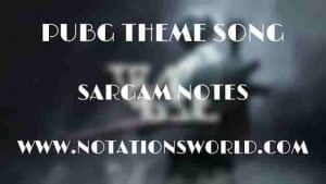 Pubg Theme Song - Sargam And Flute Notes