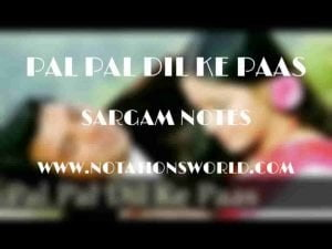 Pal Pal Dil Ke Paas (Kishore Kumar) - Sargam And Flute Notes