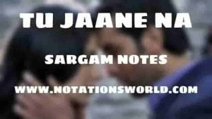 Tu Jaane Na (Ajab Prem Ki Ghazab Kahani) - Sargam And Flute Notes