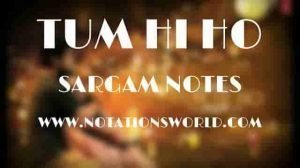 Tum Hi Ho (Aashiqui 2) - Sargam And Flute Notes