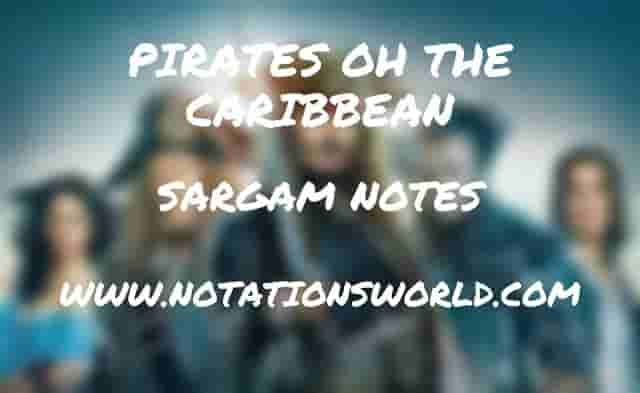 Pirates Of The Caribbean - Sargam And Flute Notes