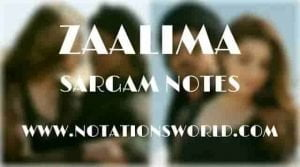 Zaalima (Raees) - Sargam And Flute Notes