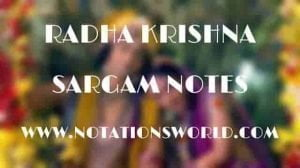 Radha Krishna (Title Song) - Sargam And Flute Notes