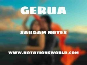 Gerua (Dilwale) - Sargam And Flute Notes