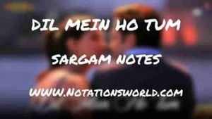 Dil Mein Ho Tum (Why Cheat India) - Sargam And Flute Notes