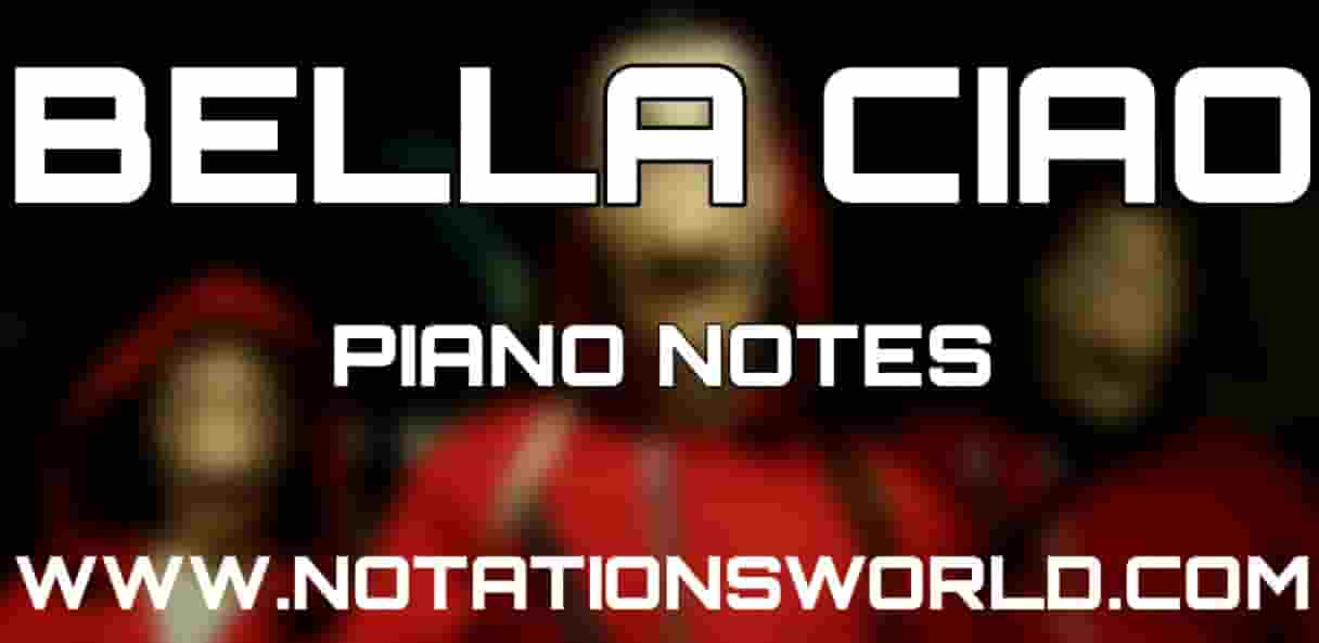 Bella Ciao Piano Notes